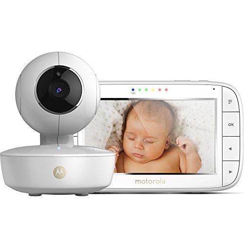 Motorola Baby MBP 50 Video-Babyphone mit Schwenk-, Neige-und Zoomfunktion, 5,0 Zoll Farbdisplay, Nachtsicht,...