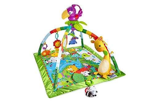 Fisher-Price DFP08 - Rainforest Erlebnisdecke, Krabbeldecke mit Musik und Lichtern, Spieldecke für Babys mit...