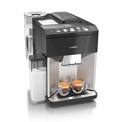 Siemens EQ.500 integral Kaffeevollautomat TQ507D03, einfache Bedienung, integrierter Milchbehälter, zwei...