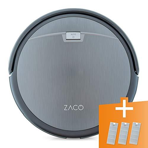 ZACO A4s Saugroboter, automatischer Staubsauger Roboter, Borstenbürste für kurzflorigen Teppich, leiser...