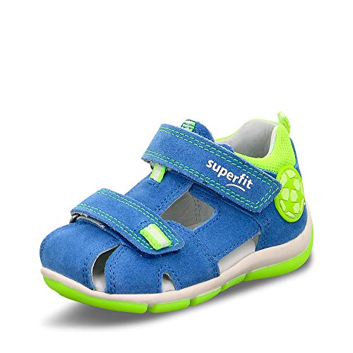 Superfit Baby Jungen FREDDY Sandalen, (Blau/Gelb 81), 23 EU