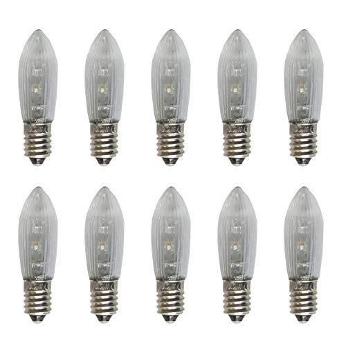 netSells® * LED Topkerze/Riffelkerze/Spitzschaftkerze * 10-55 V * 0,2 W * für innen * warmweiß * 10er Set *...