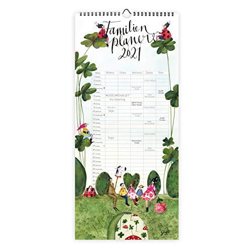 XL Familienplaner Kalender 2021 zum Aufhängen   Wandkalender Planer mit 5 Spalten pro Monat  Monatsplaner...