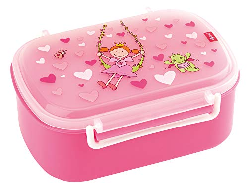 SIGIKID 24472 Brotzeitbox Pinky Queeny Lunchbox BPA-frei Mädchen Lunchbox empfohlen ab 2 Jahren rosa