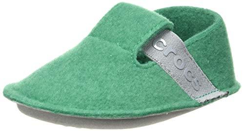 crocs Unisex-Kinder Classic Slipper Kids Hausschuhe, Grün (Deep Green), 25/26 EU