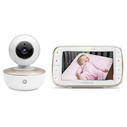 Motorola MBP855SCONNECT Video-Babyphone mit 5 Zoll-Elterneinheit und Wi-Fi Hubble Connected App für...