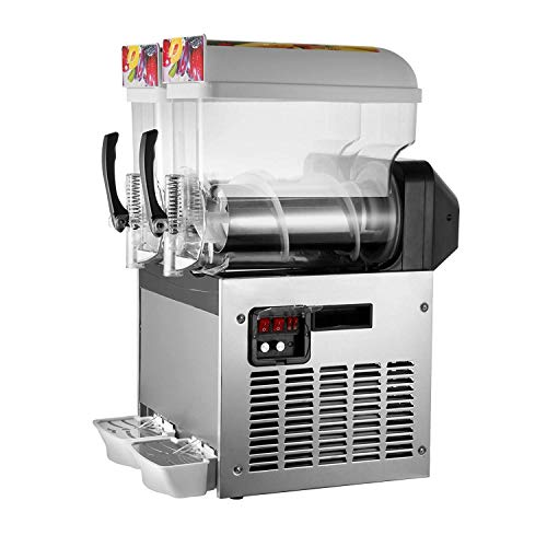 BuoQua 2x15l Slusheis Maschine 600W Slush Maker kommerziell Slush Ice Machine Slush Eismaschine Frozen Drink...