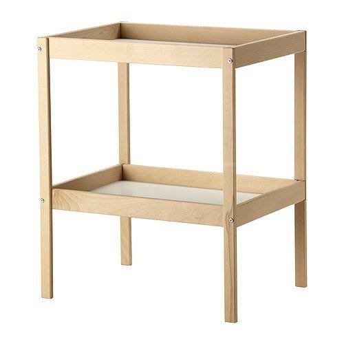 Ikea SNIGLAR Wickeltisch aus massiver Buche; (72x53cm)