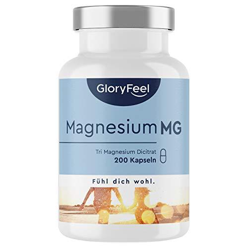 Premium Magnesiumcitrat - 2400mg davon 360mg elementares Magnesium pro Tagesdosis - 200 vegane Kapseln -...