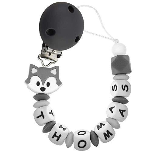 Silikon Schnullerkette mit Name, personalisierter baby-schnuller, antibakterielles silikon clip Koala...