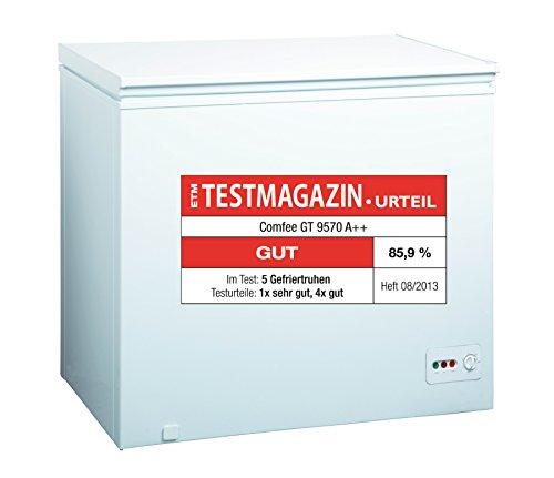 Comfee GT 9570 Gefriertruhe / A++ / 85 cm / 168 kWh/Jahr / Gefrierteil 200 Liter / reinigungsfreundlich durch...