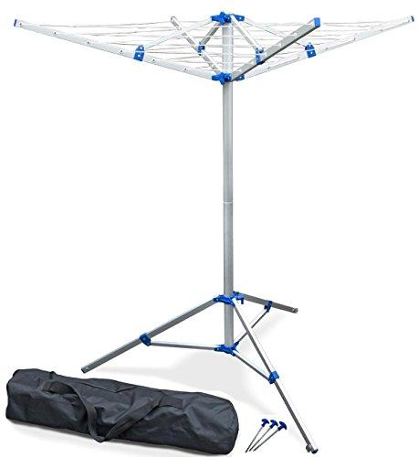 Unbekannt Wäschespinne 2-teilig, frei stehend, fixierbar, Stativ flexibel einsetzbar, 16 m Leine, nur 2 kg
