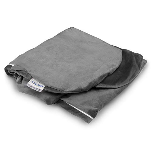 Telano Bezug 145 x 80 cm U-Form für Schwangerschaftskissen, Seitenschläferkissen, Stillkissen XXL Grau -...