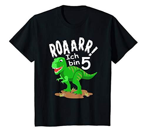Kinder Dino Geburtstag Shirt - Roaaar ich bin 5 Jahre Dinosaurier T-Shirt