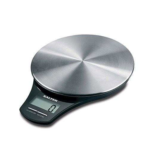 Salter digitale Küchenwaage Edelstahl - Elektronische Waage Digitalwaage für die Küche, Wiegen von...
