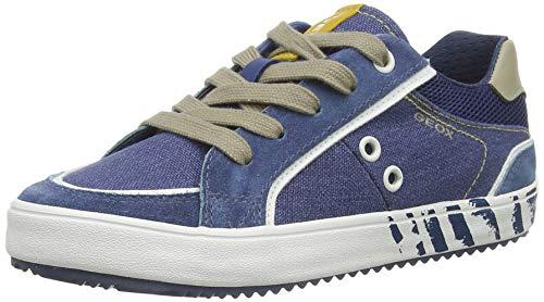 Geox Jungen J Alonisso Boy E Sneaker, Blau (Avio/Beige C4289), 33 EU