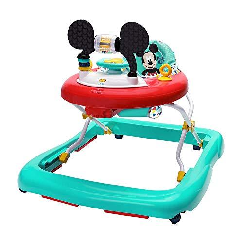 Bright Starts, Disney Baby, Micky Maus Lauflernhilfe mit abnehmbarer Spielstation, Musik, stabilem Rahmen,...