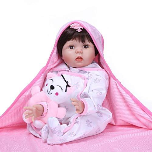 Antboat Reborn Babypuppen 22 Zoll 55 cm Lebensechte Weiche Vinyl Silikon Simulation Reborn Babys Mädchen...