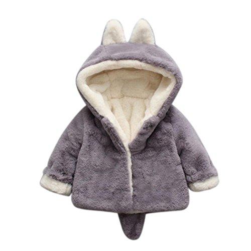 BeautyTop Baby-Säuglings-Mädchen-Jungen-Herbst-Winter-mit Kapuze Mantel-Mantel-Jacke-Starke warme Kleidung...