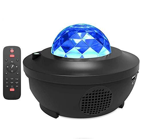 Miavogo LED Projektor Sternenhimmel Lampe mit Fernbedienung + Bluetooth Lautsprecher, Sternenprojektor mit...