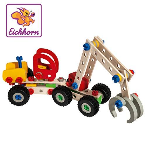 Eichhorn 100039058 - Constructor Harvester, 140-tlg., Holz Konstructions-Set, 3 verschiedene Modellvarianten...