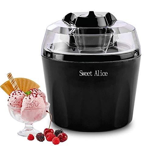 RspvD Eismaschine, Automatic Frozen Yogurt,Sorbet und Eiscreme Machine, BPA-freie, 1,5-Liter-Gefrierschale,...