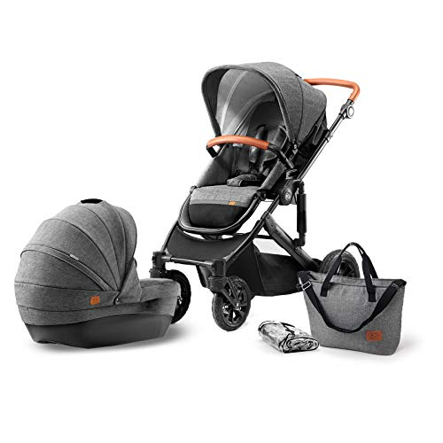 Kinderkraft PRIME: Kombikinderwagen mit Babywanne und Sportwagen-Aufsatz