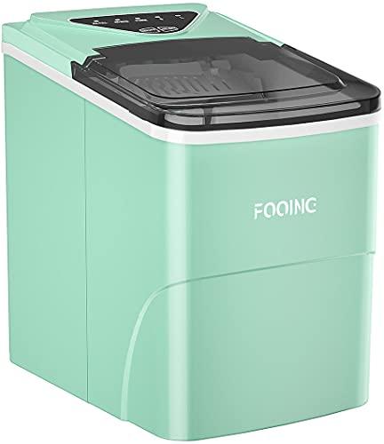 FOOING Ice Maker Cube Maschine Ice Maker Eiswurfelmachine Eiswürfel Maschine Arbeitsplatte In 6 Minuten...