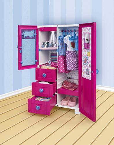 Nancy - Kleiderschrank mit Licht und Aufhänger für Jungen und Mädchen ab 3 Jahren, Mehrfarbig (Famosa...