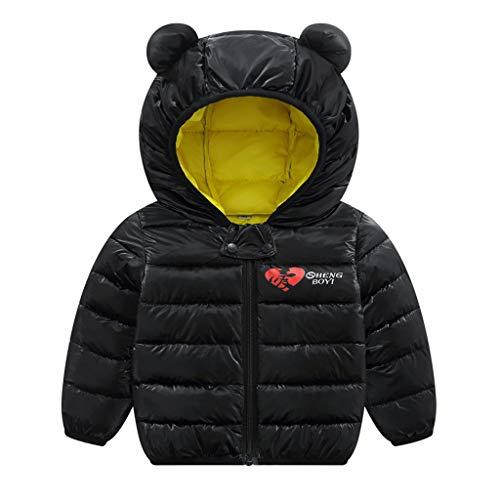 aiyvi Kinderjacke,0-4 Jahre Kleinkind Baby Jungen Mädchen Winter Herz Winddicht Mantel Mit Kapuze Warme...