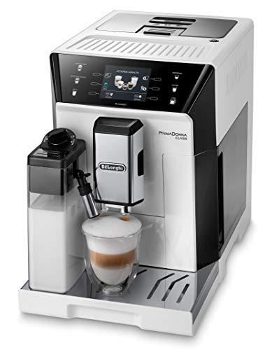 De'Longhi PrimaDonna Class ECAM 556.55.W Kaffeevollautomat mit Milchsystem, Cappuccino und Espresso auf...