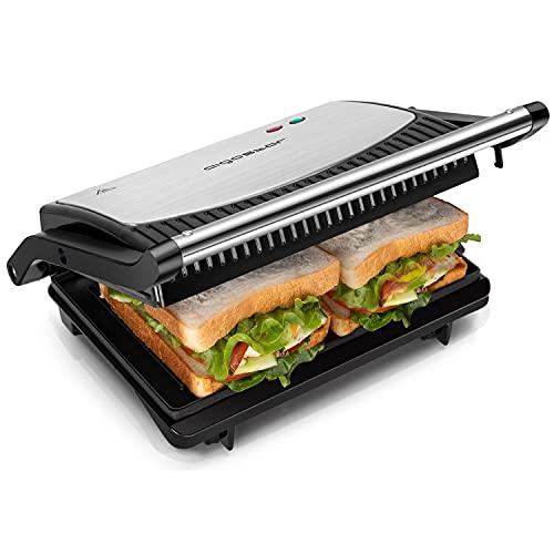 Aigostar Sandwichmaker 800W, Grilltoaster, Panini Maker, Cool Touch-Griff, Antihaft-Platten, BPA frei,...