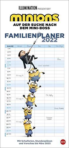 Minions Familienplaner - Kalender 2022