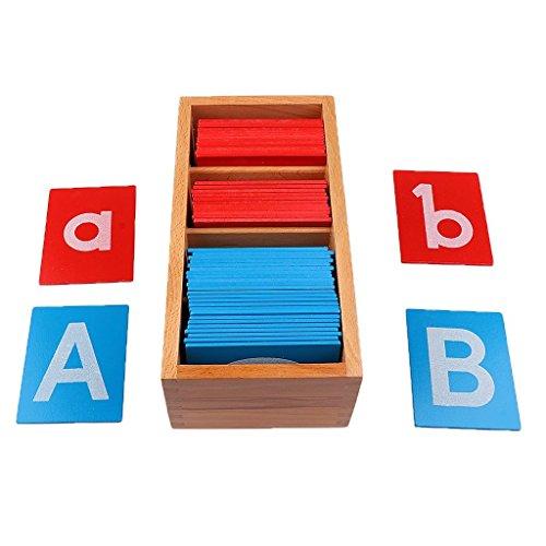 OEM Montessori Sandpapier Alphabets Board Spielzeug Püdagogisches Holzspielzeug Buchstaben Karte Holz Brett...