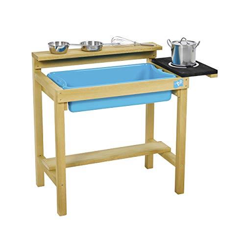 TP Toys Spielküche basic Outdoorküche Matschküche Kinderspielküche mit Zubehör Küchenutensilien 34x67x58...