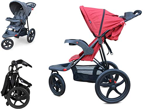 PAPILIOSHOP REBEL Dreirad buggy kinderwagen jogger mountain (Rot)