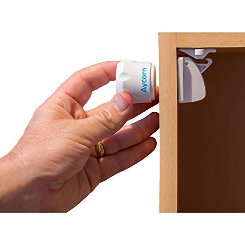 AYCORN Magnetisches Schrankschloss für Kinder und Babys - unsichtbare Kindersicherung für Schrank &...