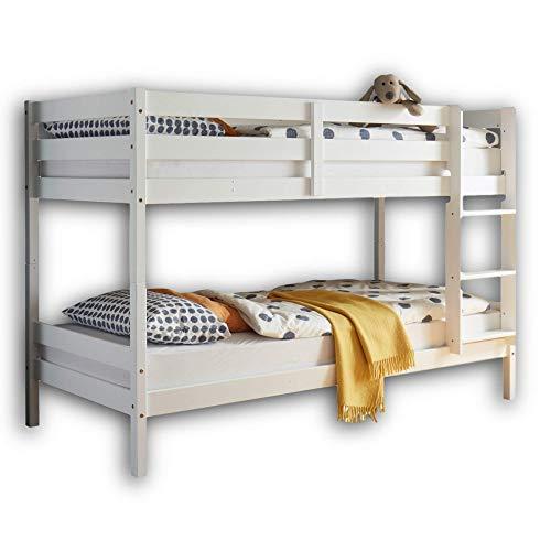 Stella Trading MORITZ Hochbett mit Leiter & zwei Liegeflächen 90 x 200 cm - Platzsparendes Kinder Etagenbett...