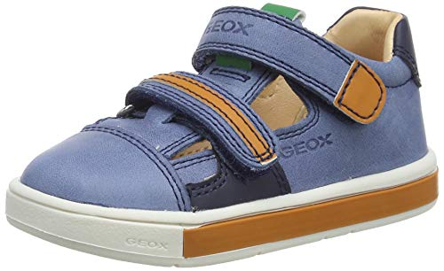 Geox Baby Jungen B TROTTOLA BOY C, Blau (Dk Blue/Orange C4m2t), 21 EU