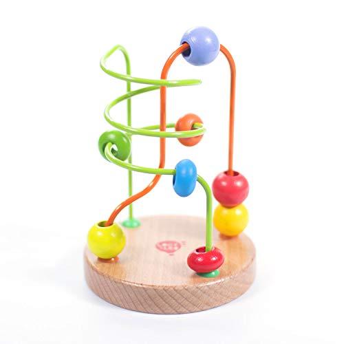 Perlen Labyrinth Bead Maze Puzzle #1 Hölzern Lernspielzeug aus Holz für Kleinkinder für Baby Boy und Baby...
