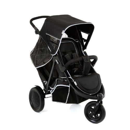 Hauck Geschwister Kinderwagen Freerider / Dreirad Buggy für 2 Kinder / Sitz Unten Abnehmbar /...