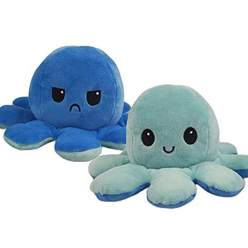 Plüschi Original✓ Octopus Plüschtier Oktupus Stimmungs Kuscheltier Oktopus flip Emotion doppelseitiges...