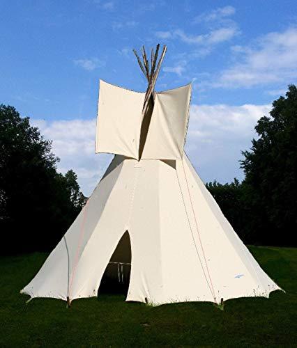 Ø 2,30m Kinder Tipi komplett mit Stangen Indianertipi Indianerzelt Wigwam Zelt Spielzelt Spielhaus Gartenhaus...