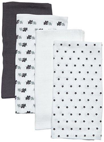 Care Baby Mullwindeln / Spucktücher im 4er Pack, 70x70 cm, All over print, Gr. One size (Herstellergröße:...