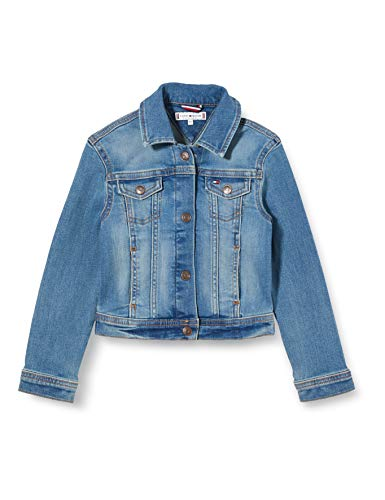 Tommy Hilfiger Mädchen Girls Basic Trucker Oclbst Jacke, Blau (Ocean Light Blue Stretch 1aa), 6-7 Jahre...