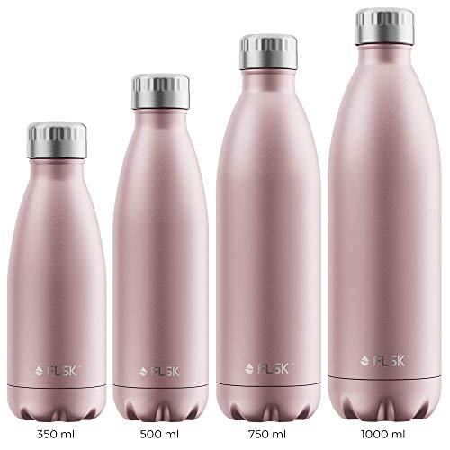 FLSK Das Original New Edition Edelstahl Trinkflasche – Kohlensäure geeignet   Die Isolierflasche hält 18...