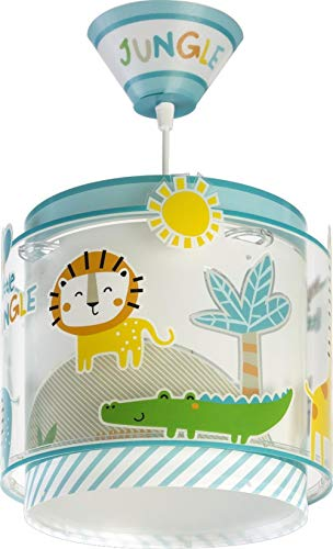 Dalber My kinder Hängelampe Little Jungle Dschungel tiere, Polypropylen, 60 W, bunt
