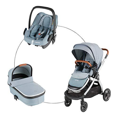 Adorra Trio Set von Maxi Cosi: 3 in 1 Kinderwagen mit Babyschale, Babywanne und Sportaufsatz