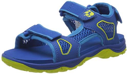 Jack Wolfskin TARACO Beach K Sport Sandalen, Blau (Blue/Lime 1176), 36 EU