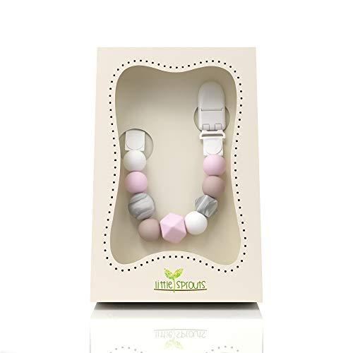 Little Sprouts - Schnullerkette - 2 n 1 - Modern und Trendy - Silikonperlen mit einzigartigen Formen - Ideal...